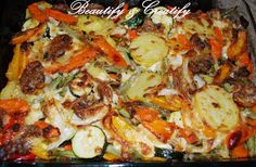 Easy baked vegetables recipe. Healthy and Yummy