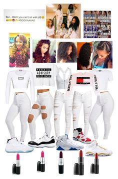 """""""Whole squad feelin godly;)"""" by anicolelauren ❤ liked on Polyvore"""
