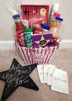 Swag bag ideas on pinterest gift bags favor bags and oscar party