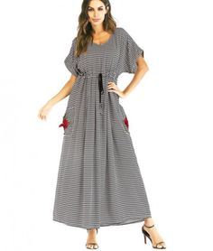 110981a5e4 6XL Plus Sizes Dress for Women Blue Striped Dress Long Tunic for Women Zig  Zag Pattern