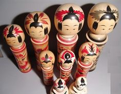 Naruko Kokeshi Hair Patterns