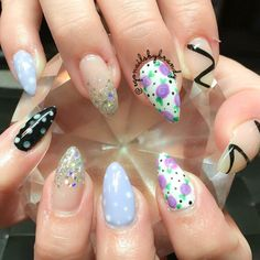 Gel nails #pointynails #gelnails #nailart