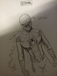 Dibujo rápido a lapicero Spiderman