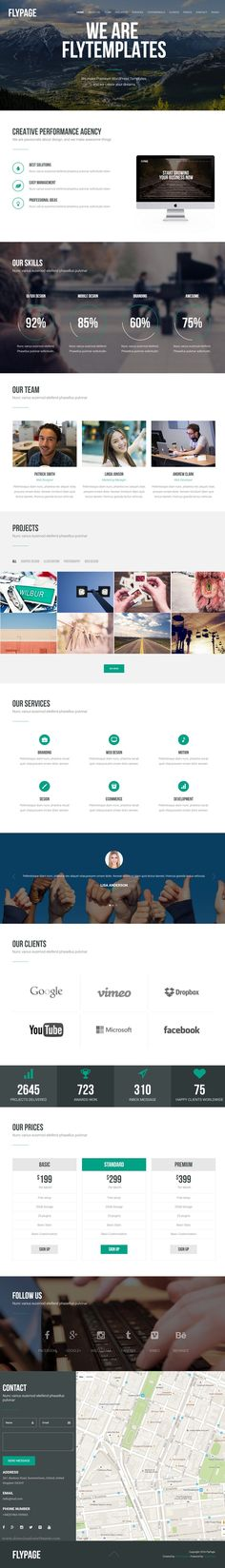 FlyPage is a Minimalist Landing Page #WordPress Theme, responsive bootstrap based. It can be used for Business, Portfolio, Agency an many more kinds of #websites, limit is your imagination. #landingpage