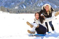 Winter Photo Shoot Best Friends Sledding