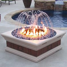 Now this is interesting! A fire pit with a fountain??
