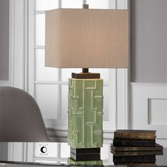 Uttermost Aklan Green Ceramic Lamp