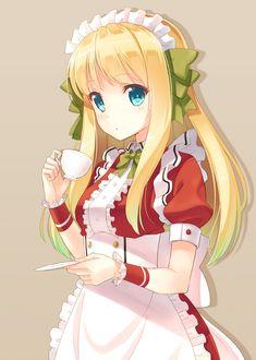 Maid blonde cute shorts