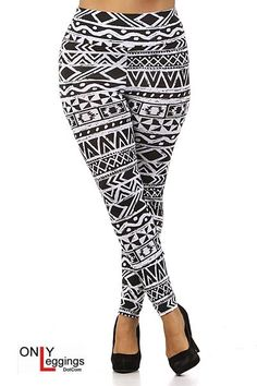 High Waisted Aztec Leggings - Plus Size #plussize #plus_size #curvy #fashion #clothes #leggings
