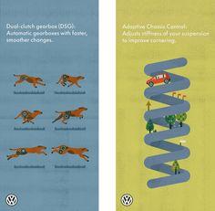 posters designed by Lotta Nieminen for Volkswagen's UK show rooms. brilliant!