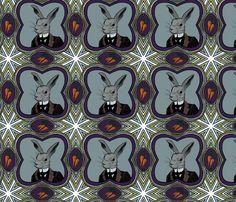 mr rabbit fabric by ravynka on Spoonflower - custom fabric
