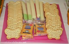 Butterfly Birthday Party - butterfly shaped crackers and cheese - eventstocelebrate. Butterfly 1st Birthday, Butterfly Garden Party, Butterfly Birthday Party, Garden Birthday, 4th Birthday Parties, Birthday Fun, Butterfly Food, Birthday Ideas, Ball Birthday