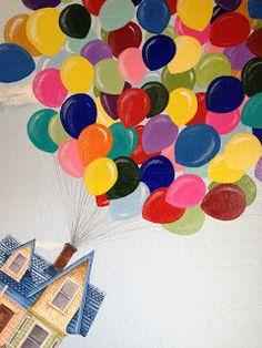 Moorefield Murals - Disney Theme: Disney Pixar's UP Up Pixar, Disney Pixar Up, Disney Theme, Disney Rooms, Disney Nursery, Disney Wall Murals, Castle Mural, Garden Mural, Kids Room Murals
