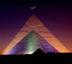 Lights over the pyramids.