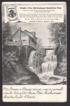 Wright's Mills-Flour-Berlin-Wisconsin-Ad Postcard | eBay