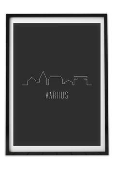 Aarhus plakat, det kendte byskilt med et tvist. #poster #interiør #indretning