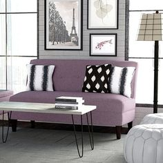 Shop for Portfolio Engle Amethyst Purple Linen Armless Loveseat . Get free shipping at Overstock.com - Your Online Furniture Outlet Store! Get 5% in rewards with Club O!