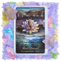 Patience card today.  As things begin to unfold for you, have patience. Allow your new blessings to flow to you and take their course to support you.  Let all things be at ease. ~Violet  #tarot  / Photo © www.VioletAura.com