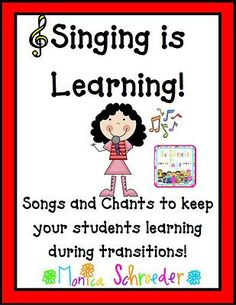 Included in this 34 page file you will find: 10 different classroom management song posters  6 different writing song posters 4 different holiday song posters 6 different math song posters Each song/chant has also been prerecorded by me or my past classes for you to listen to. The recordings are great for teaching your class the songs. Many are sung to familiar tunes  $6.99