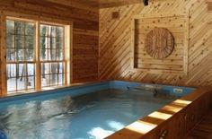 Indoor lap pool - we see winter peaking through the window!