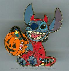 Stitch - Halloween Devil Costume- so adorable! Stitch Halloween Costume, Devil Halloween Costumes, Ghost Costumes, Devil Costume, Halloween Halloween, Vintage Halloween, Halloween Makeup, Lilo And Stitch 3, Disney Stitch Pins