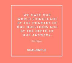 Inspiring words from Carl Sagan.