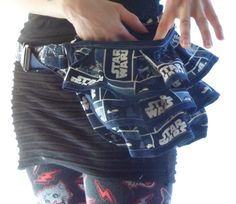 Star Wars Ruffled Fanny Pack Purse, Hip Pouch, Waist Pouch, Bustle Purse, Ready to Ship by squeakdesigns on Etsy https://www.etsy.com/listing/198128836/star-wars-ruffled-fanny-pack-purse-hip