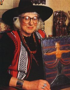 """Doreen Valiente :: Mother of Contemporary Paganism and Wiccan High Priestess. She aided Gerald B. Gardner in the writing of sacred Pagan texts including """"The Witches Rune"""" and """"The Charge of the Goddess"""". Aleister Crowley, Coven, Die Päpstin, Scott Cunningham, Traditional Witchcraft, Pagan Witch, Asatru, Before Us, Profile Photo"""