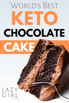 Worlds Best Keto Chocolate Cake Best Keto Chocolate Cake Recipe – This cake is the chocolatiest creation I've baked so far. It is rich, decadent and fudgy. And this chocolate cream cheese frosting makes it Worlds Best Keto Chocolate Cake EVER! Keto Desserts, Keto Snacks, Dessert Recipes, Quick Healthy Desserts, Healthy Cake Recipes, Fruit Recipes, Recipies, Keto Cake, Keto Cupcakes