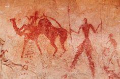 Rock painting examples, from Tassili N'Ajjer, Algeria