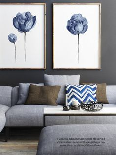 NYC Fall Fashion 2017 Navy Peony Watercolor Painting Baby Boy Blue by ColorWatercolor Pantone Color Report