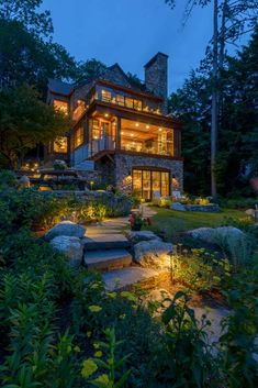 Our Work - Residential, Commercial and Landscape Architecture in New Hampshire — Bonin Architects in NH Landscape Architecture, Architecture Design, Landscape Designs, Residential Architecture, Future House, My House, House In The Woods, Lakefront Homes, Dream House Exterior