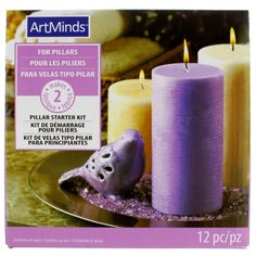 Pillar Candle Starter Kit by ArtMinds™ Make pillar candles on your own using this Pillar Candle Starter Kit by ArtMinds™. It contains all the supplies that you will need to create two candles.