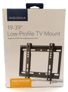 """Insignia Wall Mount For Most 19""""-39"""" TVs Low-Profile NS-HTVMFAB Fixed"""