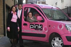 Pink Ladies spotted a business opportunity, and created the UK's first women-only private car hire franchise. New Small Business Ideas, Pink Clocks, Good Drive, Pink Nation, Everything Pink, Family Love, My Princess, Taxi, Nice Tops