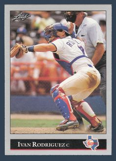 Ivan Rodriguez # 194 - 1992 Leaf Baseball
