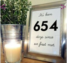 Fun facts about the bride and groom as center pieces