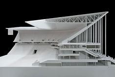 Maqueta del Nuevo estadio de Burdeos por Herzog & De Meuron. Imagen © werk5 Modellbau Berlin. Señala encima de la imagen para verla más grande.