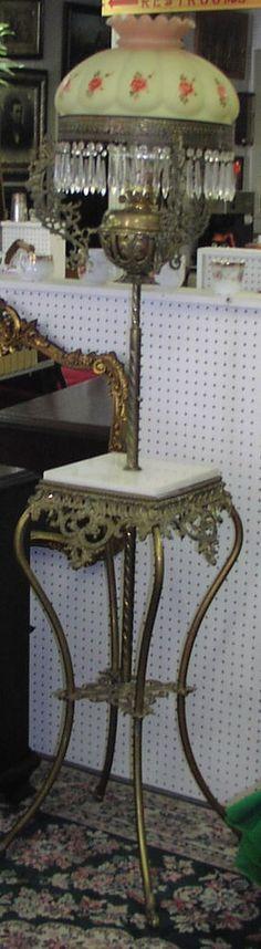 Antique Piano Oil Floor Lamp Antique Lamps, Antique Lighting, Vintage Lamps, Piano Lamps, Floor Lamps, Chandeliers, Lanterns, Sconces, Electric