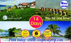 SimpleMyTrip Tired of hectic schedule? Need some break? A great trip awaits! Connect with SimpleMyTrip to enjoy the serenity and thrill of adventurous activities in lush green hills of country. Book your package now! Day Plan, Lush Green, Schedule, Serenity, Tired, Connect, Tourism, Activities, Adventure