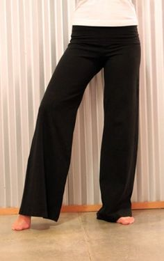 Hard Tail Contour Rolldown Wide Leg Yoga Pants - HT Charcoal W326 ...