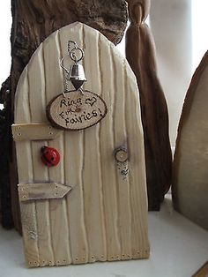 Hand carved Fairy Door - Ring for Fairies!