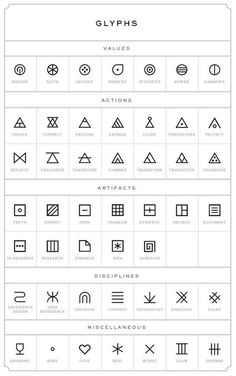 glyphs tattoo designs: