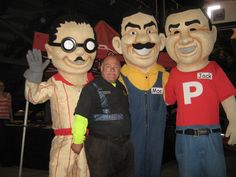 Manny, Moe & Jack - the Pep Boys at Perris Auto Speedway.   Nov. 8, 2014  19th Annual Budweiser Oval Nationals @ Perris Auto Speedway November 5-8, 2014  Sponsored by All Coast Construction  http://perrisautospeedway.com #ovalnationals #allcoastconstruction #410sprints #360sprints #autospeedway #speedway #attractions #thingstodoinsoutherncalifornia #autoracing #stockcars #stockcarracing #sprintcars #trophygirls  #sprintcarracing #food #beer #pepboys #mannymoejack #mannymoeandjack