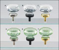 octagonal glass knob green hue nickel plated finish desk drawer pulls in craft room