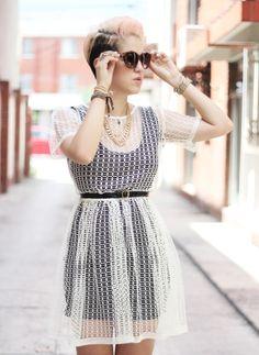 Dacotta: The Sheer Dress - Mexican Fashion Blog Nancy Nannuck 2014 #mexicanfashionblog #dress #style