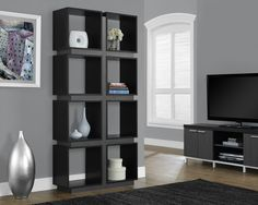 "Black / Grey Hollow-Core 71""H Bookcase"