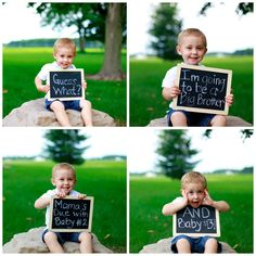 Twin Pregnancy Announcement. This would have been so cute to do with Harper!