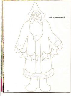 Santa w/star garland...this is a Debbie Mumm pattern.  I made it years ago.  <3
