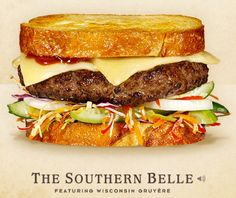Cheeseburger Hall of fame The Southern Belle #burger #recipe